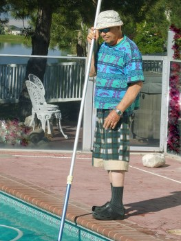Dad Needs a Robotic Pool Cleaner