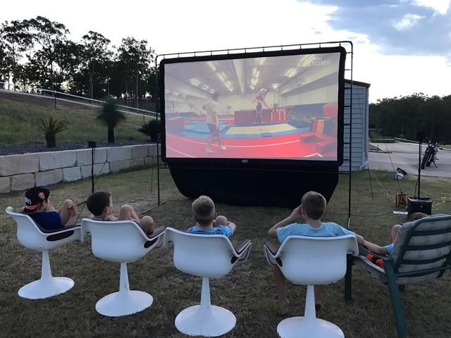Backyard Movie, Backyard Movie Party, Camp Chef - Backyard Movie Theater Showcase – Bonnie Doon Backyard Movies