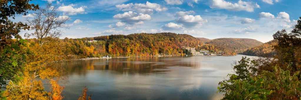 Panorama of Cheat Lake in the fall sold recently on Fine Art America