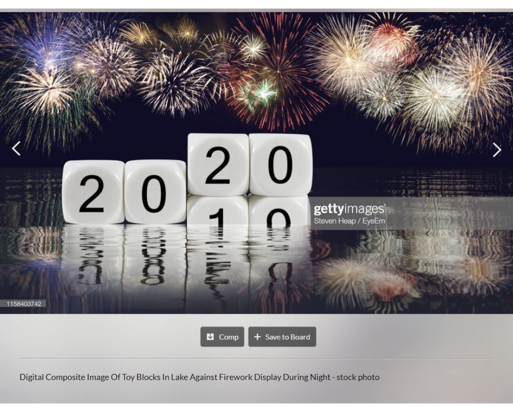 Concept for New Years Eve at the end of 2019 and the start of 2020