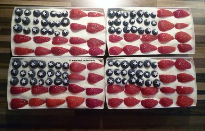 Amerikanischer Flaggenkuchen/Fantakuchen