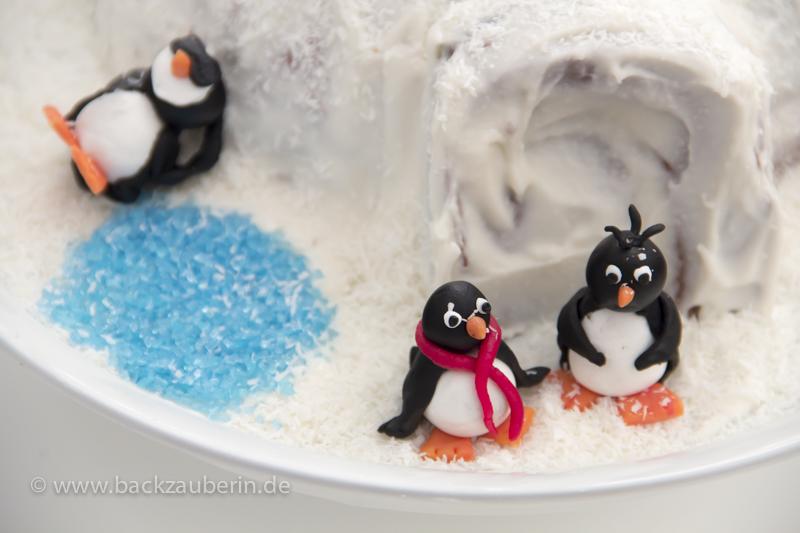 Hereinspaziert - Iglutorte mit Pinguinen
