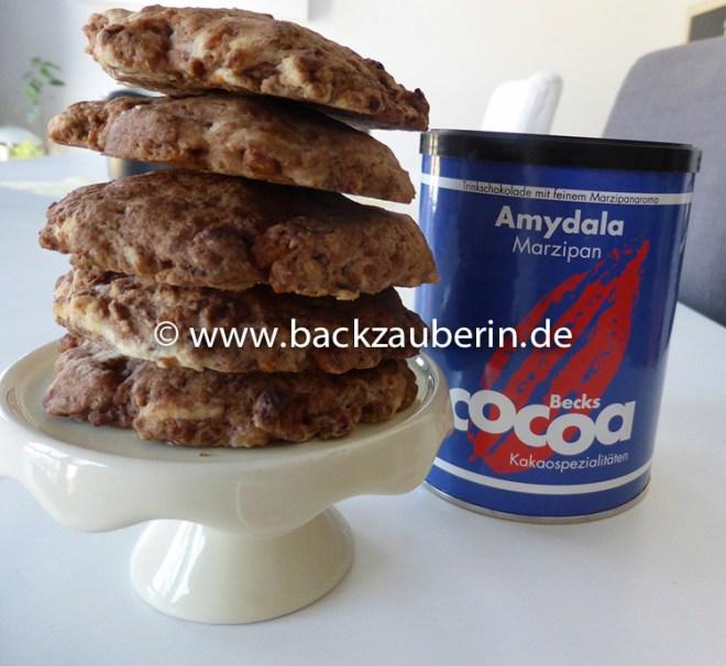 Marzipan-Schoko-Cookies mit Amydala