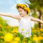 Photo of happy young girl in field of yellow flowers find your niche