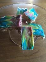 Raw Vegan Rainbow Paddlepop Slice
