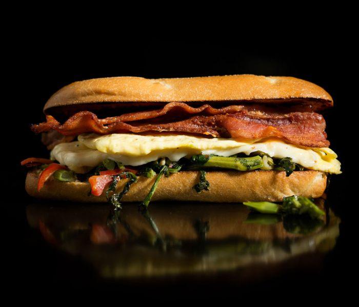 Bacon Bacon - Almost Veggie Breakfast Sandwich