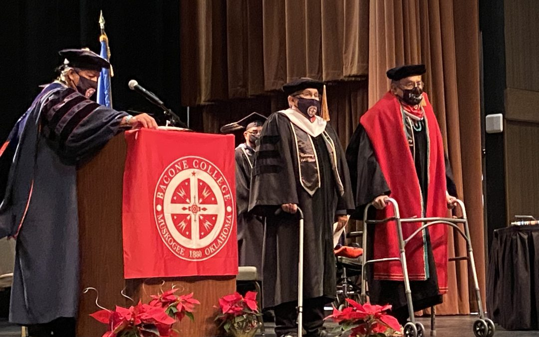 Mark J. Simms receives honorary doctorate from Bacone College
