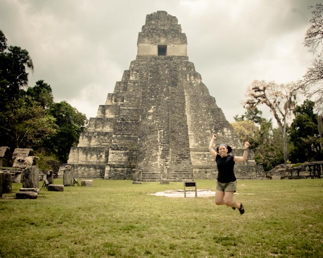 Ayngelina at Tikal
