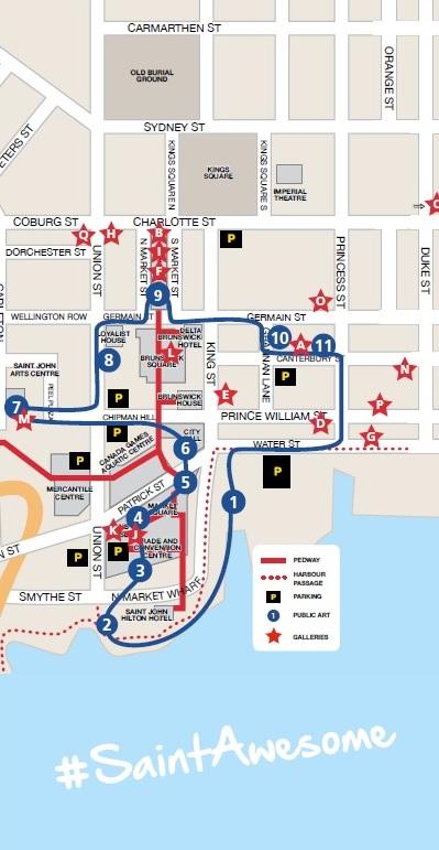 Public art map in Saint John
