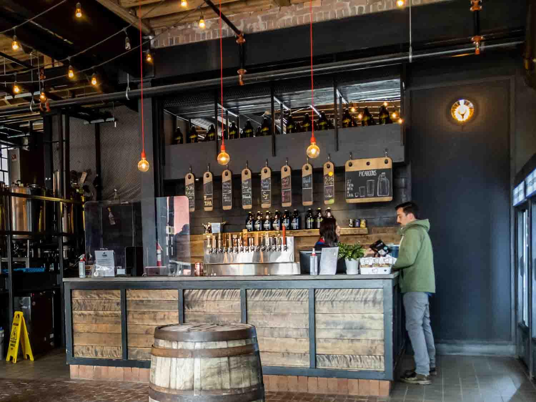Bar at Picaroon's General Store in Uptown Saint John