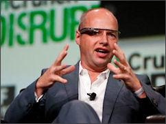 MOOC pioneer Sebastian Thrun. I'd feel a lot better about MOOCs if he took off those uber-geeky Apple computer-glasses.