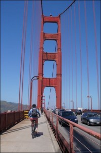 Quite possibly the bike lane with the most awesome views in the world.