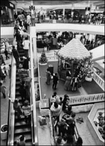 In 1977, not long after it opened, Regency Square was a destination – a center of fashion, especially at Christmas, when visitors would come from miles around to see Santa.
