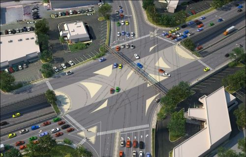 VDOT rendering of proposed Rio Road interchange