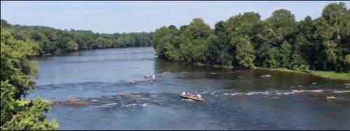 James River near Dominion's Bremo power plant. Photo credit: WTVR.