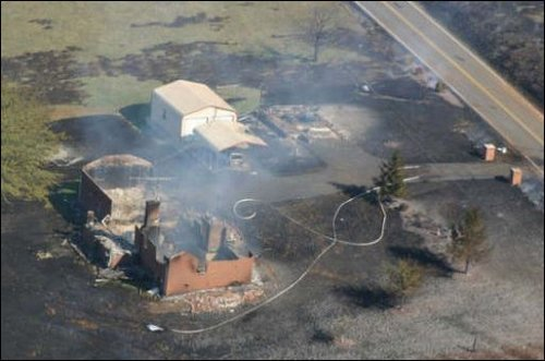 Aftermath of Appomattox explosion. Photo credit: Pipeline Safety Trust