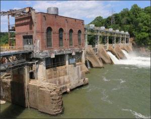 The Reusens hydroelectric dam.