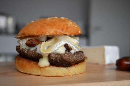 Rezept Burger mit Brie und Datteln