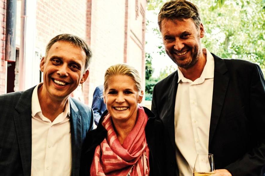 Stephan Otto (links) mit Cornelia Poletto und Wolfgang Otto
