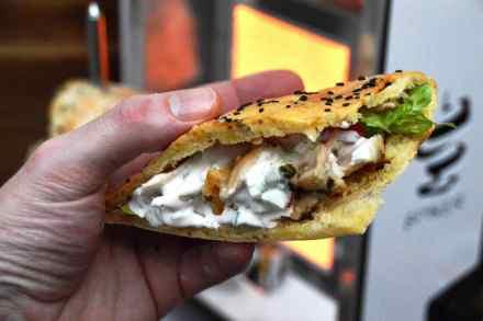 Asado Style Hühnchen im Sandwich vom Spiker BBQ Drehspieß