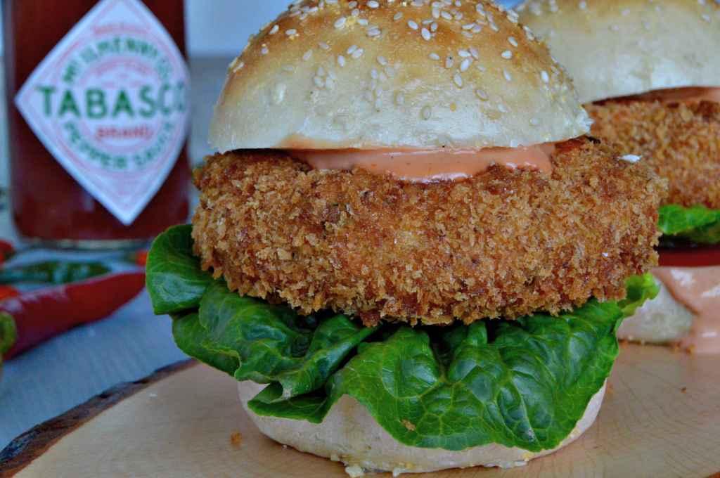 Rezept für Tabasco-Scampi-Burger