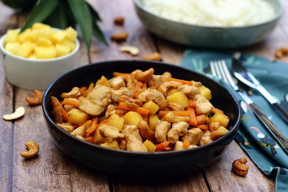 recette poulet-ananas-cajou-tamari