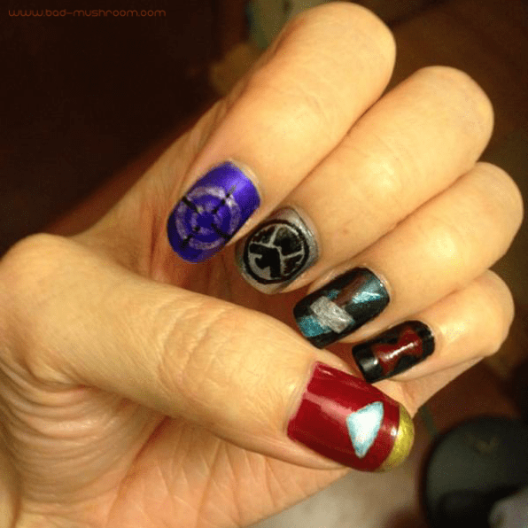 Avengers Earth's Mightiest Heroes nail art