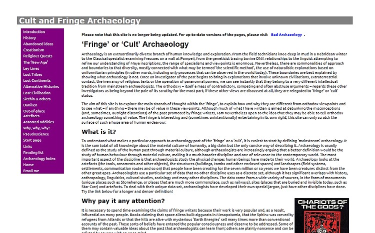 Bad Archaeology: exposing frauds, misconceptions and distortions