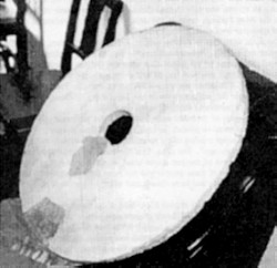 A photograph alleged to show one of the 'Dropa stones'