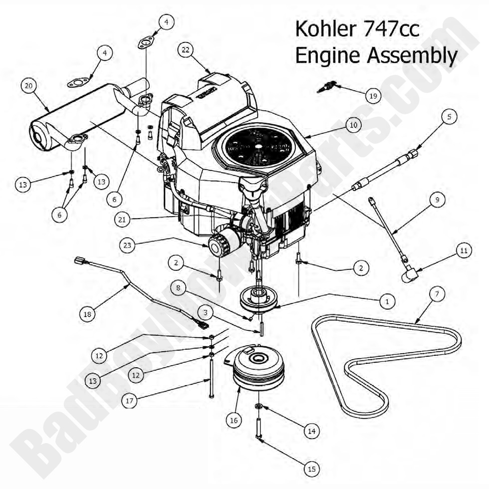 22 Hp Kohler Engine Parts Diagram