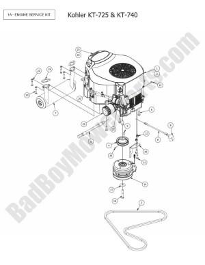 2015 MZ Magnum  Engine (Kohler KT725, KT740) Diagram