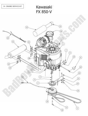 2015 Outlaw XP  Engine (Kawasaki FX850V) Diagram