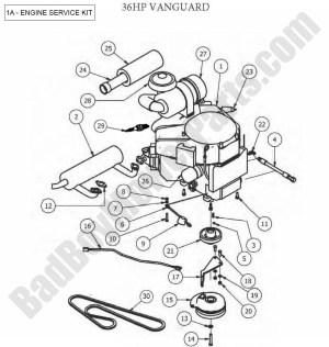 Bad Boy Parts Lookup 2012 Outlaw Engine (36Hp Vanguard)