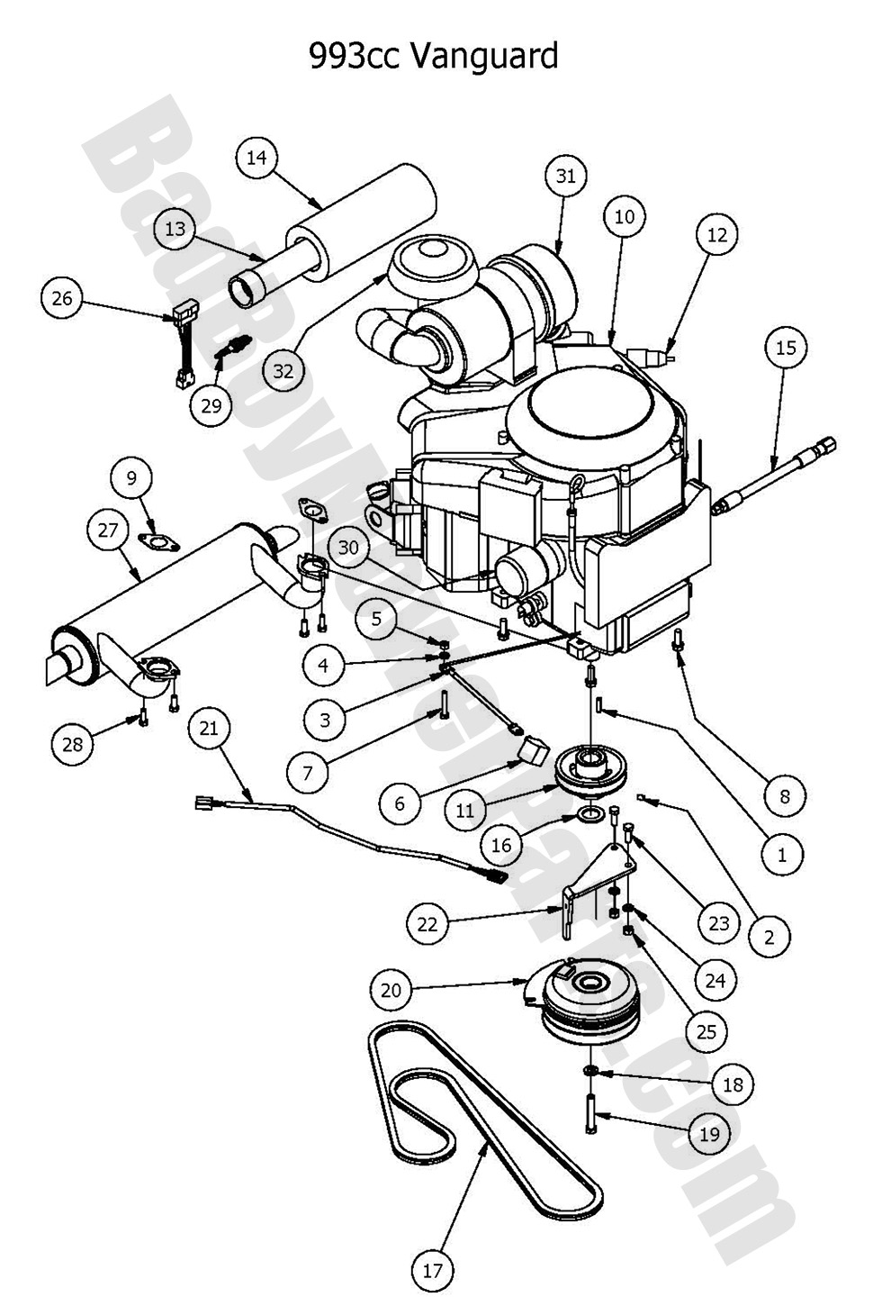 Bad boy mower parts 2016 outlaw xpengine vanguard 993cc diagram vanguard 20993cc bad boy mower