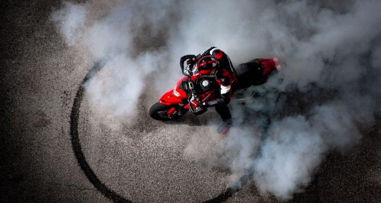 Motorcycle Burnout Fail