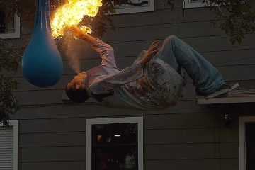 Fire-breathing Backflip with Steve-O