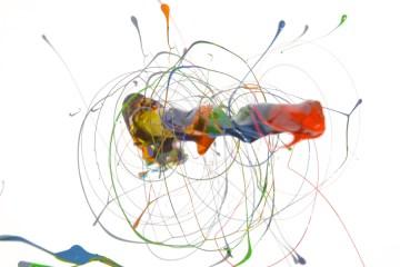 Paint Spinning Drill Art