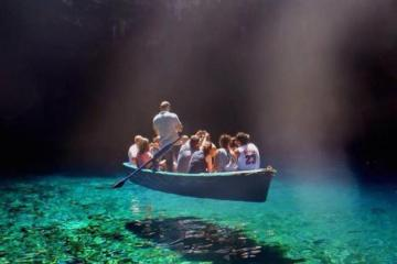 Daily Fresh Baked Randomness boat float green water