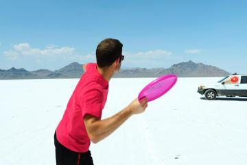 Frisbee vs. Bow and Arrow