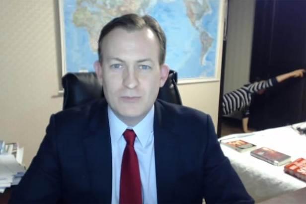 Children interrupt BBC News interview 1