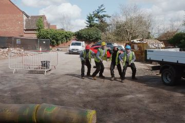 Construction Workers Battle 1