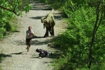 Run Like a Maniac after you Jog into a Dinosaur 1