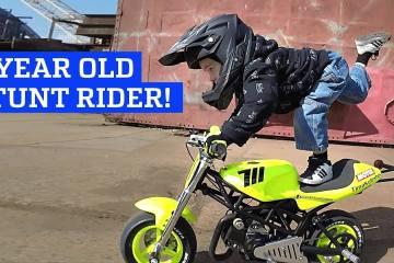 3 Year Old Motorcycle Stunt Rider 1