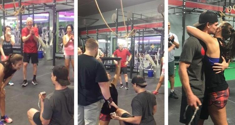 Dude Proposes To Girlfriend While Working Out 1