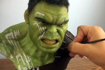 Hulk Sculpture Timelapse 1