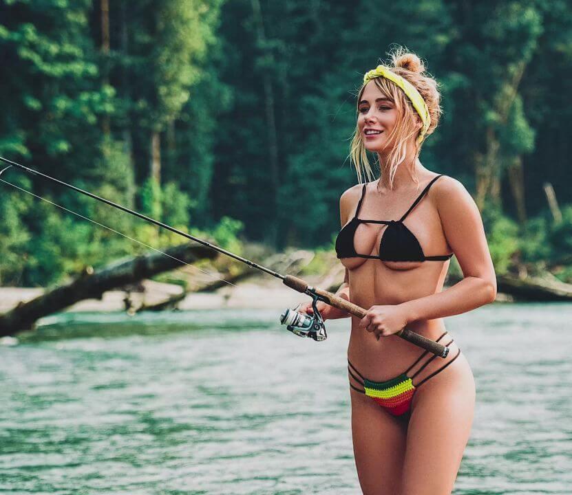 sara underwood photoshoot fishing