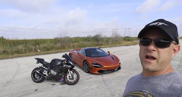 BMW S1000RR Motorcycle vs McLaren 720S Drag Racing 1