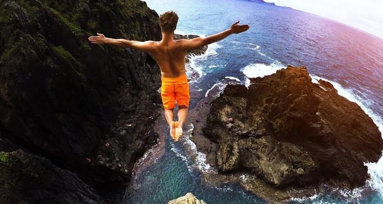 Cliff Jumping Hawaii - Badchix Magazine