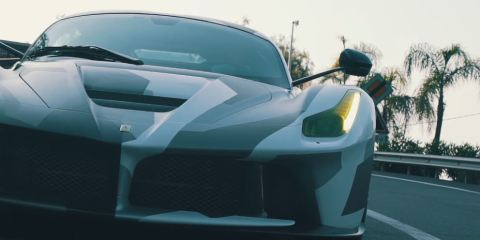 A 1000HP LaFerrari Drifting Around a Factory 1