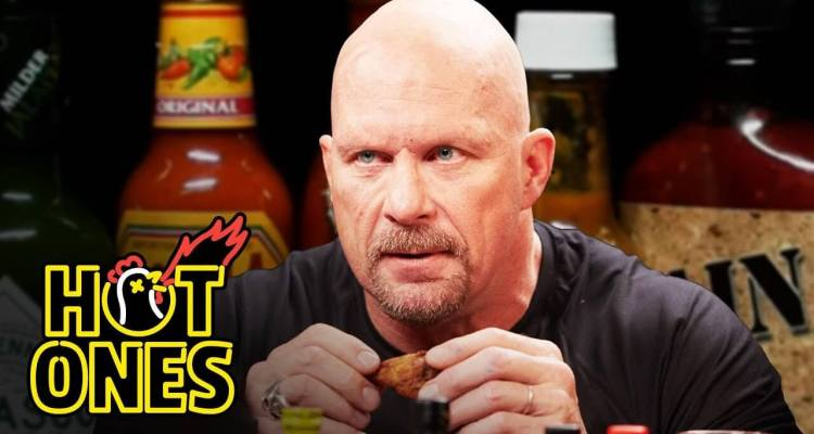Stone Cold Steve Austin Eats Spicy Wings 1